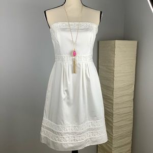 WHBM Strapless Sateen Dress Size 6